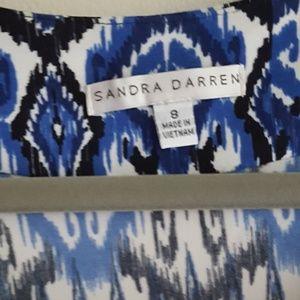 Sandra Darren Dresses - Multi-pattern Geometric Dress| Sandra Darren